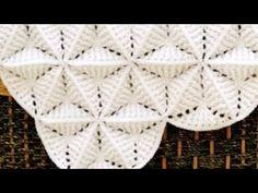 Afghan Crochet Patterns, Crochet Motif, Baby Knitting Patterns, Diy Crochet, 3d Triangle, Crochet Triangle, Triangle Pattern, Crochet Waffle Stitch, Crochet For Beginners Blanket