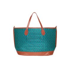 SS2012 Bucket Tote - Turquoise/Tan