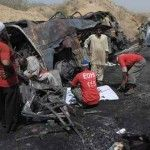 Truck-Bus Collision Kills 35 In Pakistan