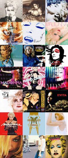 #Madonna Album Covers