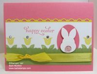 Bright Blossoms Bunny Card - Barbstamps!! Barb Mullikin Stampin' Up! Demonstrator