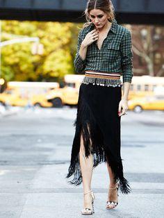 Fringe Skirt Street Style, photo from fabfashionfix.com