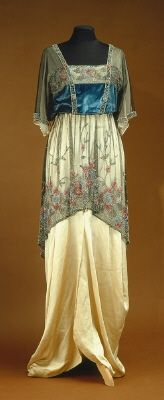 Pearl-embroidered Edwardian gown