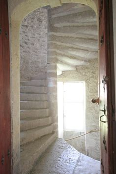 Stone spiral Stairs