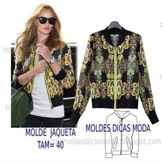 Diy idea how to make tutorial sew pattern bomber jacket