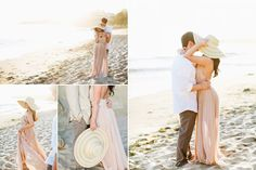 possibly wear a large sunhat to recreate kiss under hat stylish laguna beach engagement photos