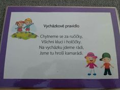 Vycházkové pravidlo Preschool, Frame, Kids, Picture Frame, Young Children, Boys, Children, Kid, Nursery Rhymes