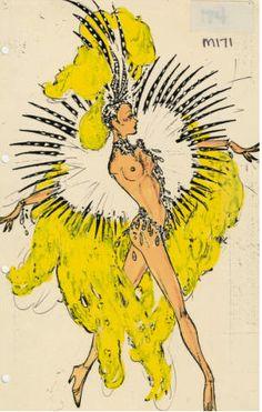 DISCO Tall Nude Showgirl Costume