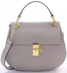 Light Gray Chloe Medium Drew Shoulder Bag sale at USD 329.  Free International Shipping.  Click the site http://www.luxtime.su/chloe-bags