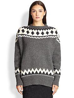 Adam Lippes Wool & Cashmere Fair Isle Sweater