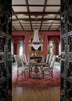 Give your Victorian dining room an entrance that matches the grandeur of the interior [From: Pratt & Lambert Paints]