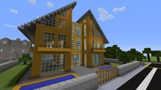 Minecraft gaming xbox xbox360 PC house home creative mode mojang barn modern house bungalow upside-down MinecraftHome MinecraftHouse PhillipStewartDesign MinecraftBuilding Barn Farm