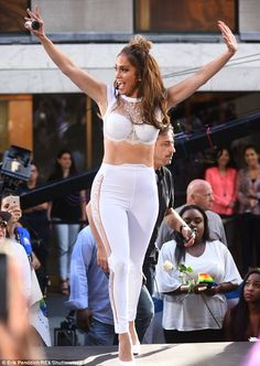 e847ccd92f847 Jennifer Lopez wearing La Perla Neoprene + Ricamo Long Line Bra