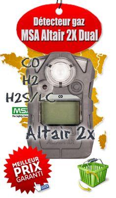 Description du produit : Tous les détecteurs de gaz ALTAIR 2X Détecteur multigaz portable ALTAIR 5X  Intègrent la technologie Cellules XCell®, largement éprouvée Détecteur multigaz portable ALTAIR 5X  Améliorent la sécurité des travailleurs, la conformité et la traçabilité Détecteur multigaz portable ALTAIR 5X  Minimisent le coût de possession Détecteur multigaz portable ALTAIR 5X  Sont ultra robustes et durables Les Options Détecteur multigaz portable ALTAIR 5X  Détecteur de gaz ALTAIR 2XP…