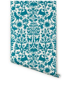 downstairs bathroom wallpaper | otomi in turquoise from hygge & west