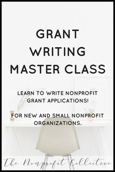 Learn how to write grants through this Grant Writing Master Course! You& learn everything you need to know to get started grant writing for nonprofits. Grants For College, Financial Aid For College, College Planning, Freelance Writing Jobs, Business Writing, Business Class, Nonprofit Fundraising, Fundraising Ideas, Fundraising Events