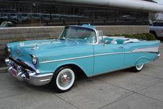 Vintage Cars  :   Illustration   Description   57′ Chevy Bel Air #Chevy #ClassicCars #CTins