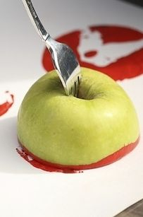 Apple Stamping | 20 After-School Activities That Are Actually Fun