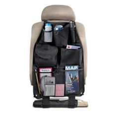 @Overstock - Umbrella loop  See-thru mesh pocket  5 open storage pockets  1 closable storage pocket with Velcro flap  Durable nylon construction  Beverage holder  Secures easily and safely to your vehicle's seat  Can be used in most cars, trucks, SUVs and mini-vans  http://www.overstock.com/Home-Garden/Auto-Seat-Organizer/6318733/product.html?CID=214117 $9.99
