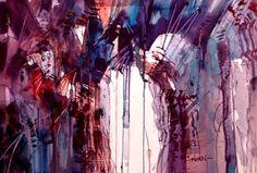 woody hansen | Title: Steroid Drip 2. Original Watercolor. Watercolor. Framed 24x30 ...
