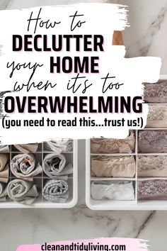 Overwhelmed at the thought of tackling all the clutter in your home? If you don't know where to begin, have a read of our top tips and begin your journey to a clutter free home! Declutter Your Home, Organizing Your Home, Home Organisation Tips, Clutter Free Home, Homemaking, Clean House, Journey, Top, Home Economics
