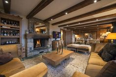 fireplace at corniche, verbier