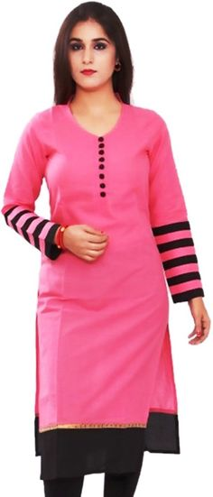 """Key Features of Aroha Casual Solid Women's Kurti 3/4 Sleeve Peachpuff Aroha Casual Solid Women's Kurti Price: Rs. 339 """"Aroha"""" is a designer brand for young urban Indian Women. The look is sophisticated and carefully crafted. At """"Aroha"""", we brings to you a wonderful mix of Women Ethnic and western wear in a wide range of colours, materials and designs for the modern Indian woman."""