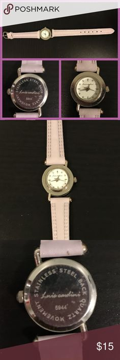 Luis Cardini woman's watch Used woman's watch. It's light purple with a chrome like bezel.   Ready for a new home!   Thank you for looking at my post be sure to check out my closet and follow me so you can keep up to date with all my good deals I have for sell.  I offer 15% off bundles of 3 or more. I also accept reasonable offers and I am a fast shipper. I look forward to doing business with you. Happy Poshing ❤️ Luis Cardini Accessories Watches