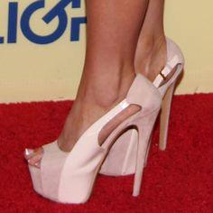Tasha Reign wearing natural buckled pumps