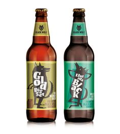 Black Wolf Brewery Craft Beer on Packaging of the World - Creative Package Design Gallery