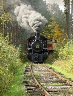 Train blowin' smoke