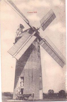 Norfolk postcard Croxton Mill Windmill | eBay