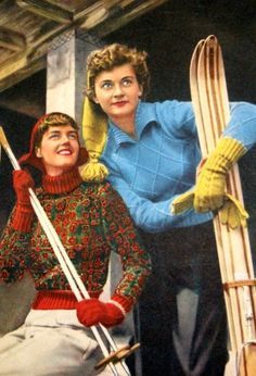 Ski fashion late 1940s