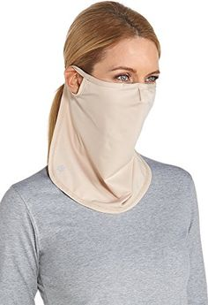 Coolibar UPF 50 Unisex UV Face Mask  Sun Protective SmallMedium  Beige * Find out more about the great product at the image link. (Note:Amazon affiliate link)