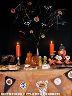 Spooky dining decor and candle ideas, brought to you by www.scentedcandleshop.com