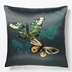 x 1 for living room Shadow Butterfly Silk Pillow Cover Glam Pillows, Modern Throw Pillows, Toss Pillows, Bed Pillows, Sofa Throw, Silk Pillow, Pillow Fabric, Decorative Cushions, Decorative Pillow Covers