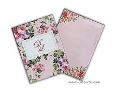 Floral digital three fold custom invitation- EAM-244 by Raniti on Etsy