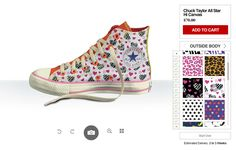 29af8c533494 Flowerly Converse Sneakers Design Your Own Converse