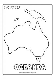 9 Mapas da Oceania para Colorir e Imprimir - Online Cursos Gratuitos Continents Activities, Les Continents, Geography For Kids, World Geography, Home Learning, Learning Activities, Teaching Maps, Portal Do Professor, Countries And Flags
