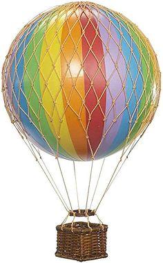 Floating The Skies Hot Air Balloon Model - Rainbow