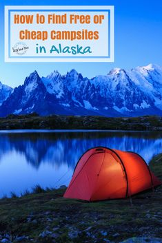Alaska ha one of the best free camping systems in the US. This guide shows you how to find free and cheap campsites in Alaska in some of the most beautiful places you've ever seen! Alaska Camping, Alaska Travel, Travel Usa, Camping Guide, Camping Hacks, Travel Hacks, Budget Travel, Backpacking Tips, Travel Tips