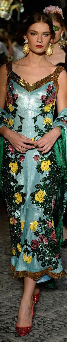 Dolce and Gabbana fall 2016 alta moda- couture harpersbazaar