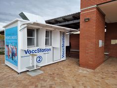 Topshell Containers proudly developed and produced this COVID-19 Vaccination Station deployed at Khayelitsha Hospital. Shipping Container Conversions, Garage Doors, Shed, Outdoor Structures, Outdoor Decor, Home, Ad Home, Homes, Carriage Doors