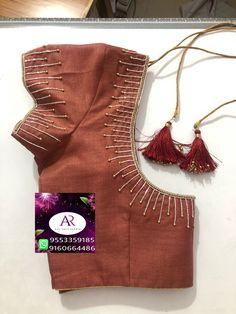 Simple design ping me 9895473878 Blouse Back Neck Designs, Pattu Saree Blouse Designs, Simple Blouse Designs, Stylish Blouse Design, Fancy Blouse Designs, Simple Designs, Blouse Simple, Sari Design, Design Design