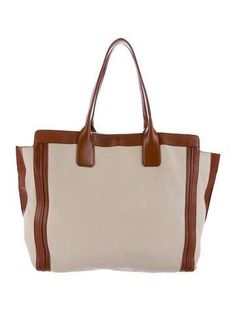 7087430e8b Creme and Tan leather Chloé Alison tote with gold-tone hardware