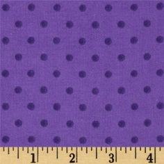 Flannelle imprimé - small dots - purple