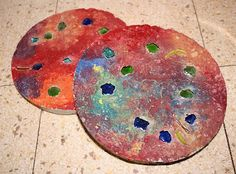 homemade stepping stones
