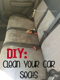 Do you have kids in car seats? In my experience I have found this equation to be very, very true. Kids + Car Seats = Stains for days. DIY clean your car seats. For the spring - not warm enough for wet seats to dry now.