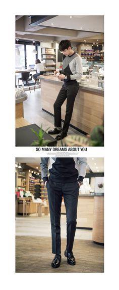 [[LMG.04] 스마트 품격 슬랙스] 슬랙스와 맨투맨을 활용한 남자 댄디 패션, 남성의류, 남자쇼핑몰, 남자 패션