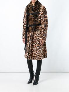 Givenchy пальто с леопардовым принтом